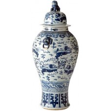 Ваза / VASE PENINSULA blue white ceramiс / ACC05722